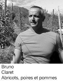 Bruno Claret Abricots, poires et pommes, arboriculteur Fruits&Compagnie