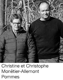 Christine et Christophe Monêtier-Allemont Pommes, arboriculteurs Fruits&Compagnie