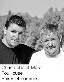 Christophe et Marc Fouillouse Poires et pommes, arboriculteur Fruits&Compagnie