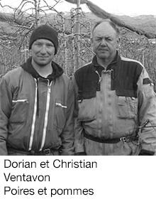 Dorian et Christian Ventavon Poires et pommes, arboriculteurs Fruits&Compagnie