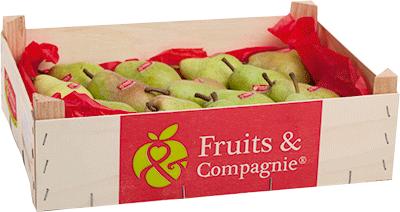 Plateau poires williams verte héritage de nos terroirs Fruit&compagnie