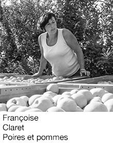 Françoise Claret Poires et pommes, arboriculteur Fruits&Compagnie