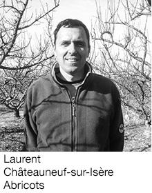 Laurent Châteauneuf-sur-Isère Abricots, arboriculteur Fruits&Compagnie
