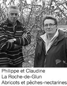 Philippe et Claudine La Roche-de-Glun Abricots et pêches-nectarines, arboriculteur Fruits&Compagnie