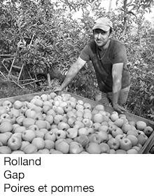 Rolland Gap poires et pommes, arboriculteur Fruits&Compagnie