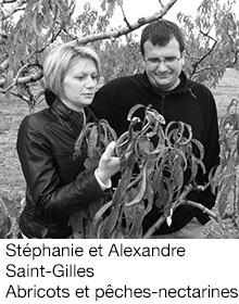 Stéphanie et Alexandre Saint-Gilles Abricots et pêches-nectarines, arboriculteurs Fruits&Compagnie