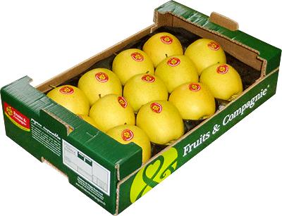 plateau familial pommes golden - gamme solutions consommateurs Fruit&compagnie