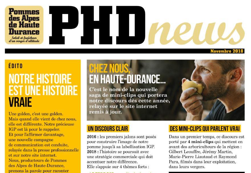 La lettre de l'IGP Pommes des Alpes de Haute Durance
