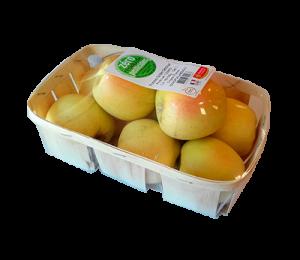 barquette 750 g Pomme Godlen - gamme zero résidu de pesticide Fruit&compagnie