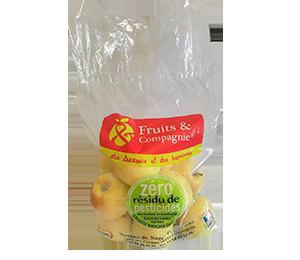 Sac pomme Golden - gamme zero résidu de pesticide Fruit&compagnie