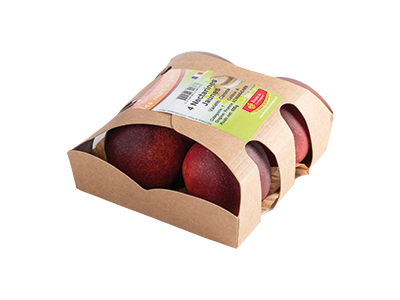 barquette 4 peches nectarines - gamme solutions consommateurs Fruit&compagnie