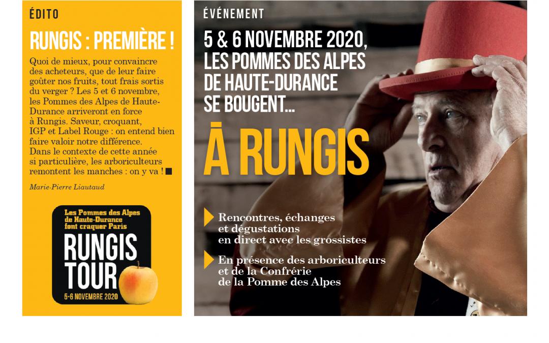 Les 5 & 6 Novembre 2020, les pommes des Alpes de Haute-Durance sont à Rungis